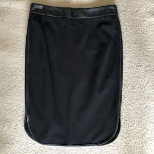 Ann Taylor Loft Pencil Skirt with pleather trim